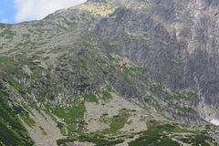 Slovakia mountains. Slovakia mountain cable car and meadows Royalty Free Stock Photography