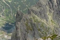 Slovakia mountains. Slovakia nice mountains with climbers Stock Images