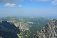 Slovakia mountains. Slovakia nice mountains with clouds Royalty Free Stock Photo