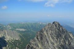 Slovakia mountains. Slovakia nice mountains with clouds Royalty Free Stock Photos