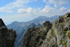 Slovakia mountains. Slovakia nice mountains with clouds Stock Images