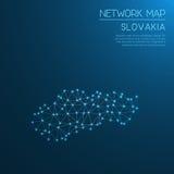 Slovakia network map. Royalty Free Stock Photo