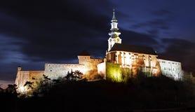 Slovakia - Nitra Castle at night Stock Image