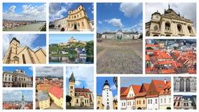 Slovakia places. Slovakia collage - photos with travel places including Bratislava, Kosice, Trencin, Presov and Bardejov stock photography