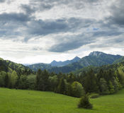 Slovakia, Poland, Pieniny Mountain Range with Trzy Korony peak Royalty Free Stock Photo