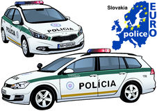 Slovakia Police Car Stock Photos