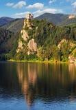 Slovakia - Ruin of castle Strecno Stock Image