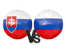 Slovakia / Russia soccer game Royalty Free Stock Photo