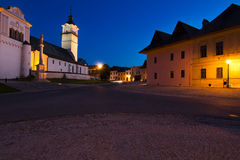 Slovakia small town in the evening Royalty Free Stock Photos