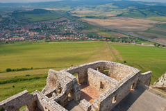 Slovakia Spis Castle. View from a tower top royalty free stock image