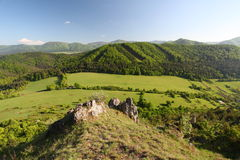 Slovakia spring landscape in mountain Royalty Free Stock Image