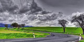 Slovakia spring landscape royalty free stock images