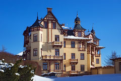 SLOVAKIA, STARY SMOKOVEC - JANUARY 06, 2015: View of the Grand Hotel in  popular resort Stary Smokovec High Tatras mountains Royalty Free Stock Photos