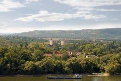 slovakia Sturovo är en stad på denslovakiska gränsen ly arkivbild