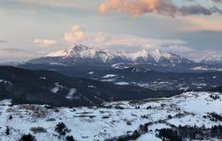 Slovakia Tatras mountain from Pieniny Stock Images