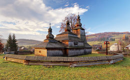 Slovakia - Wooden church in Bodruzal royalty free stock images