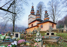 Slovakia - Wooden Church In Hunkovce Near Svidnik Stock Photo