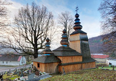 Slovakia - Wooden Church In Hunkovce Near Svidnik Royalty Free Stock Images