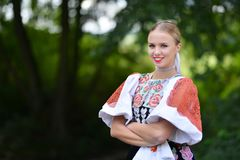 Slovakian девушка стоковая фотография rf