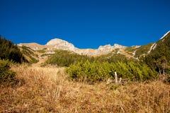Slovakian Belianske Tatry mountains landscape. Beautiful slovakian Belianske Tatry mountains. Beautiful sunny panorama - dolina zadnych medodolov stock photography