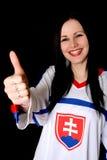 Slovakian Fan Royalty Free Stock Photography