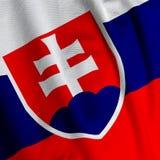 Slovakian Flag Closeup Royalty Free Stock Photography