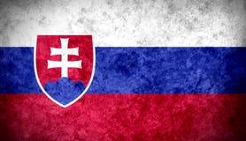 slovakian flagga Arkivbilder