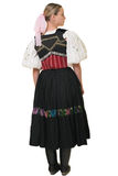 Slovakian folk costume - embroidered traditional dress Stock Images