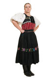 Slovakian folk costume - embroidered traditional dress Royalty Free Stock Photo
