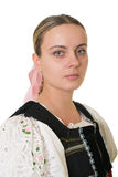 Slovakian folk costume - embroidered traditional dress Stock Photography