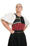 Slovakian folk costume - embroidered traditional dress Royalty Free Stock Photography