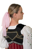 Slovakian folk costume - embroidered traditional dress Stock Photo
