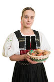 Slovakian folk costume - embroidered traditional dress Royalty Free Stock Photos