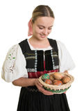 Slovakian folk costume - embroidered traditional dress Royalty Free Stock Image