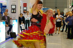 Slovakian folk dancers at TT Warsaw Royalty Free Stock Images