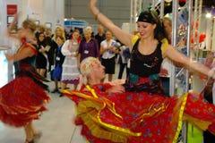 Slovakian folk dancers at TT Warsaw Stock Images
