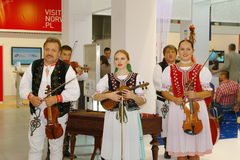 Slovakian folk musicians at TT Warsaw Stock Photos