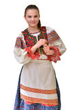 Slovakian folklore clothes traditional Stock Images