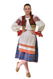 Slovakian folklore clothes traditional. Woman with Slovakian folklore clothes traditional Royalty Free Stock Image