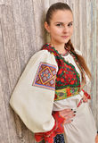 Slovakian folklore clothes traditional. Woman with Slovakian folklore clothes traditional royalty free stock images
