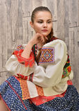 Slovakian folklore clothes traditional Royalty Free Stock Photos