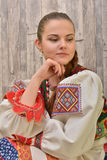 Slovakian folklore clothes traditional Royalty Free Stock Photo