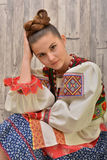 Slovakian folklore clothes traditional Royalty Free Stock Image