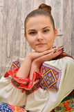 Slovakian folklore clothes traditional Stock Image