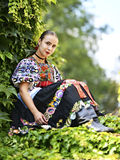 Slovakian folklore. Traditional woman costume royalty free stock images