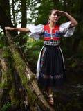 Slovakian folklore woman Royalty Free Stock Photos