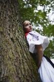 Slovakian folklore woman Stock Photo