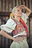 Slovakian folklore woman royalty free stock photography