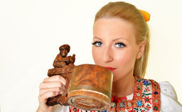Slovakian folklore woman Stock Photography