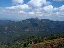 Slovakian mountains Roháče in Orava. In the photo is Osobitá. July 2017 stock image